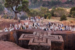 Christmas pilgrimage to Lalibela, Ethiopia - January 4, 2014