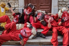 Ballo dei diavoli (Dance of the Devils) during Easter Sunday in Prizzi, Sicily - Italy - April 16, 2017