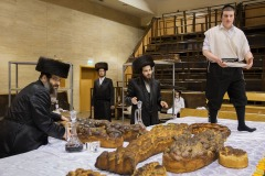 Orthodox Jews prepare celebrations of Purim in The Great Belz Synagogue in Jerusalem on March 17, 2014