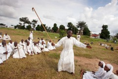 Sunday open air mass of a pentecostal church in Kananga, DR Congo, May 7, 2005