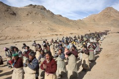 Gochak - Buddhist pilgrimage in Ladakh, India - February 25, 2013