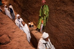 the annual Christmas pilgrimage to Lalibela, Ethiopia - January 5, 2014