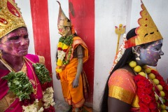 Maha Shivaratri celebrations in the village of Kaveripattinam, India - February 14, 2018