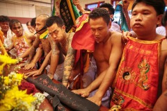 Getting into a trance - Taoist The Nine Emperor Gods Festival in Phuket, Thailand - October 6, 2016