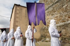 Good Friday procession in the village of Bercianos de Aliste in Zamora region, Spain - March 25, 2016